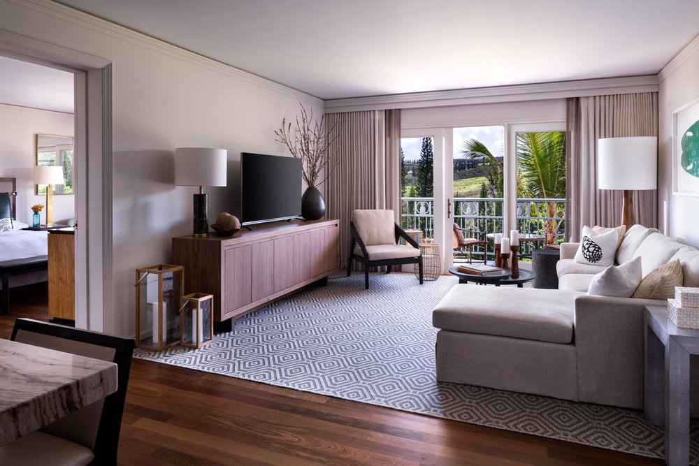 One Bedroom Residential Garden View Suite - Resort View, 900 Sq Feet, 1 King Bed, 1 Bathroom & a partial kitchenette. Offers a full size sofa bed and the option to place a twin size roll-away bed into the suite complimentary - $329++(17 more available as of 4.2.19: 11/5 - 11/9)