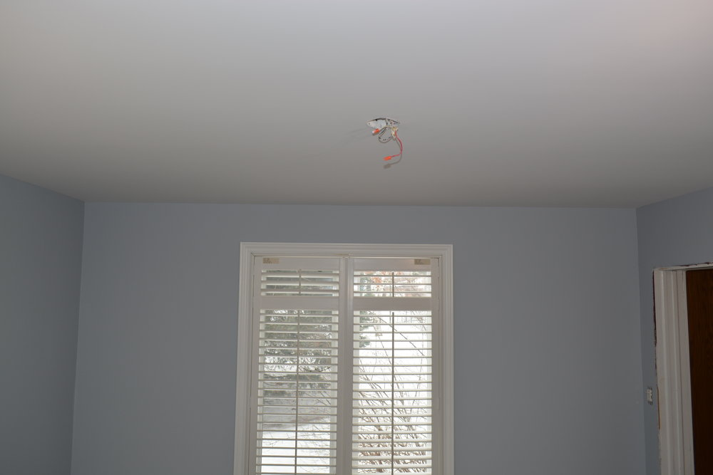 To finish it all off the ceilings gets primed a 2nd time, then 2 coats of premium ceiling paint are applied.