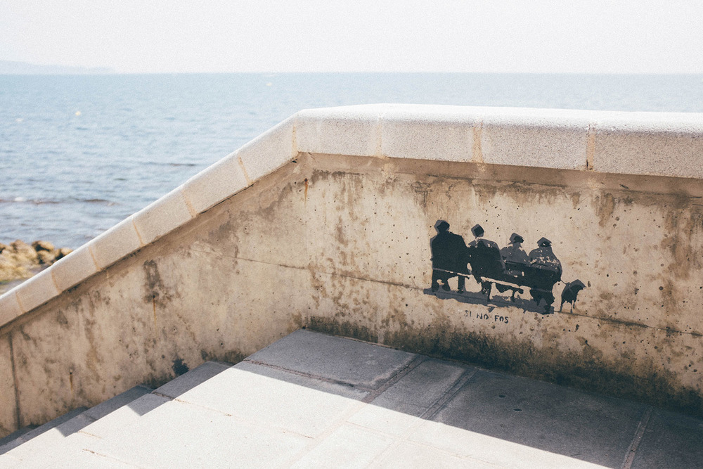 travel summer spain costa brava street art