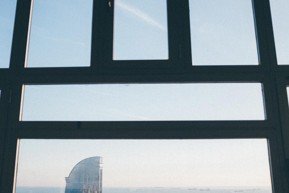 teleferic barcelona W hotel
