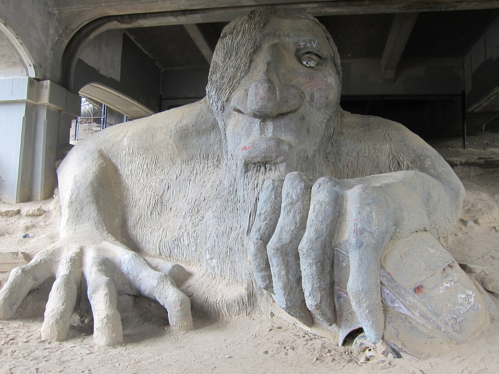 The Fremont Troll just down the street