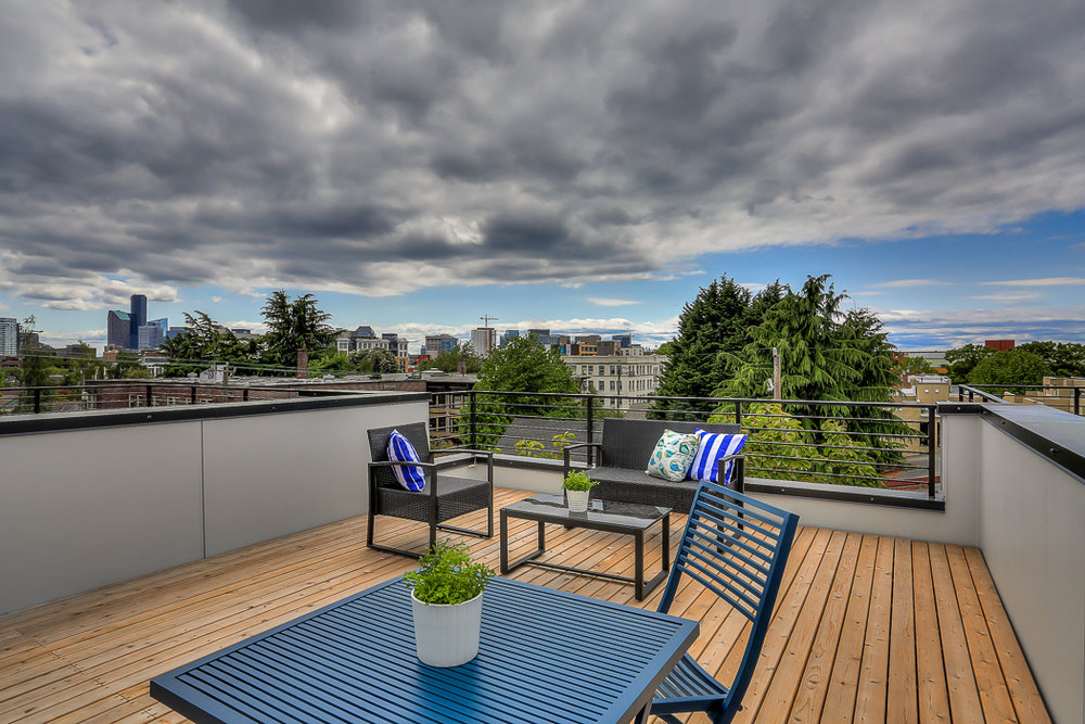Rooftop decks and secured parking.