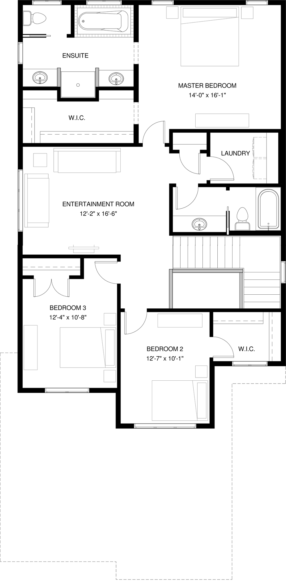 Upper Floor Optional Ensuite  1309 sq ft