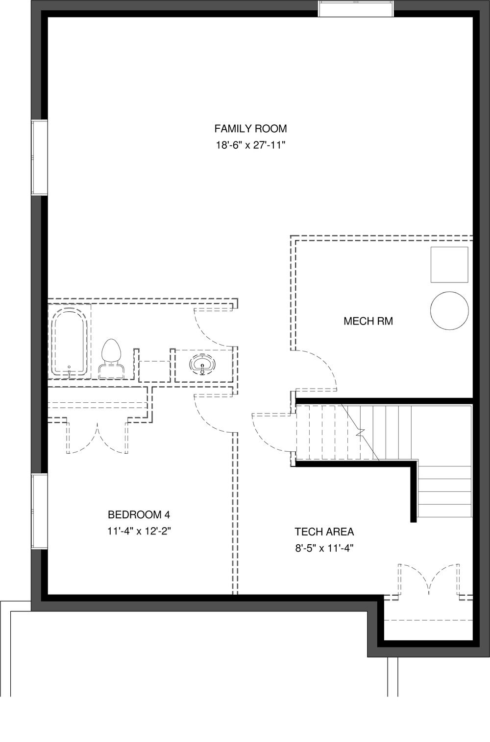 Lower Floor Future Development  872 sq ft