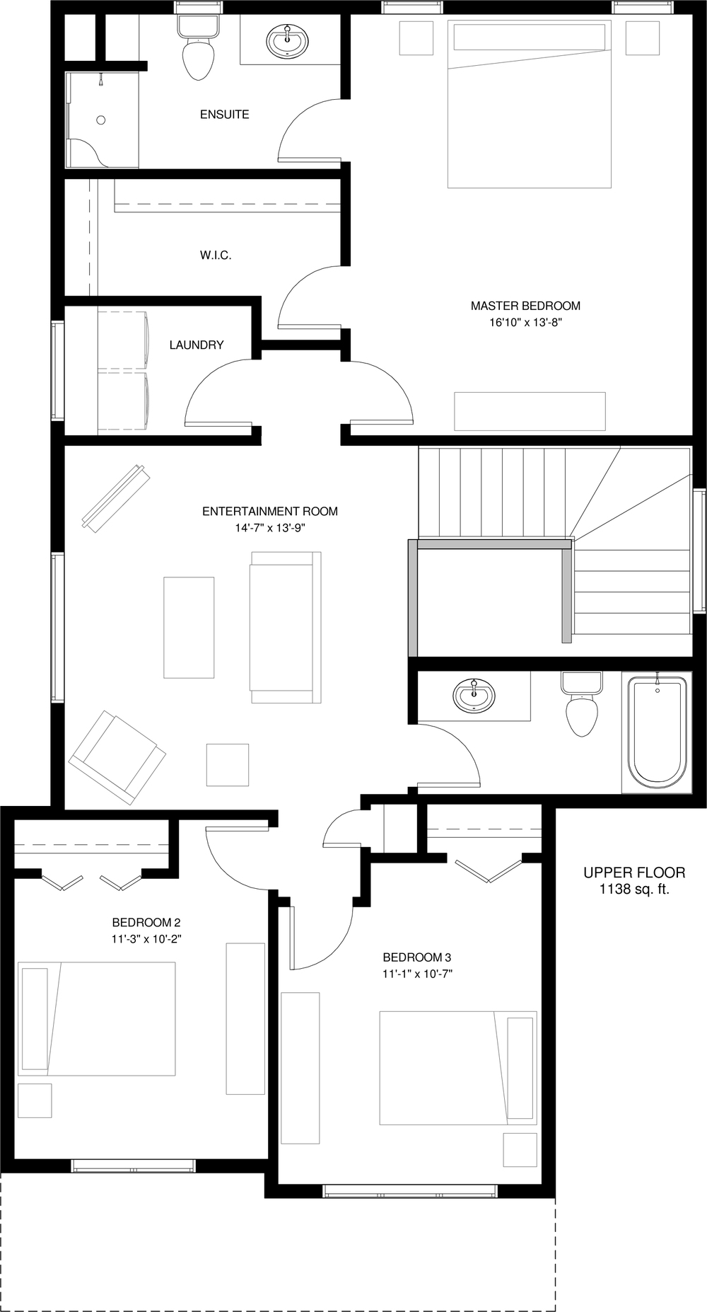 Upper Floor 1138 sq ft