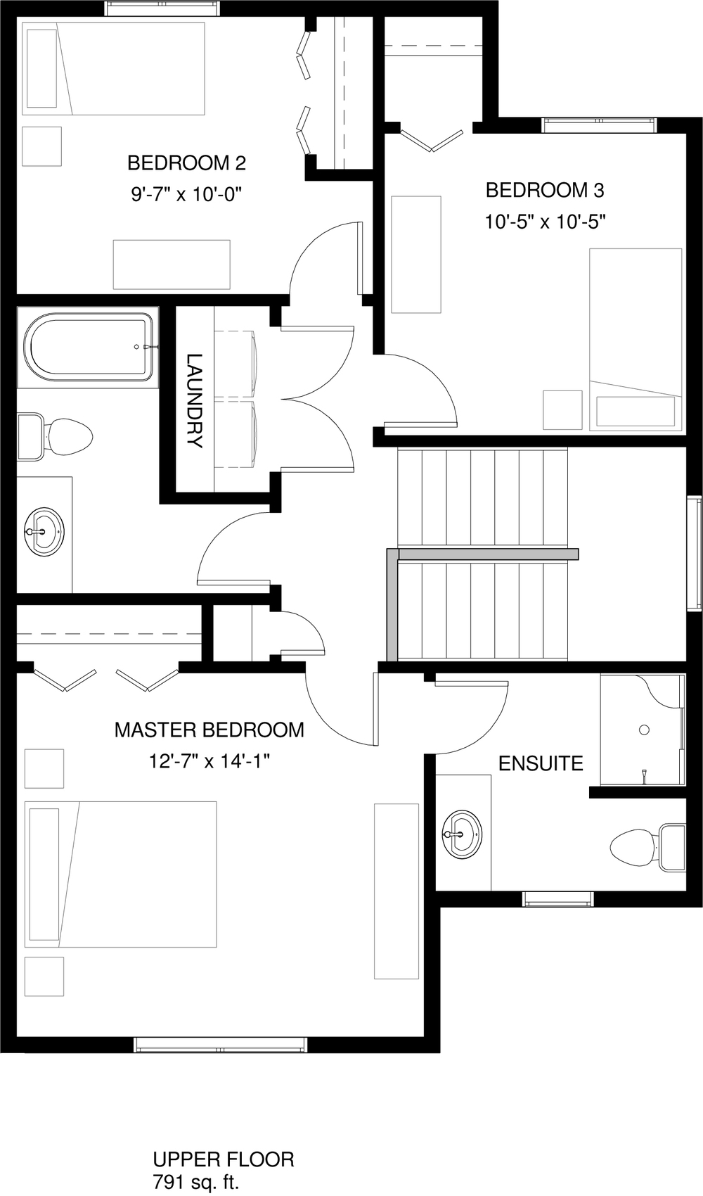 Upper Floor   791 sq ft