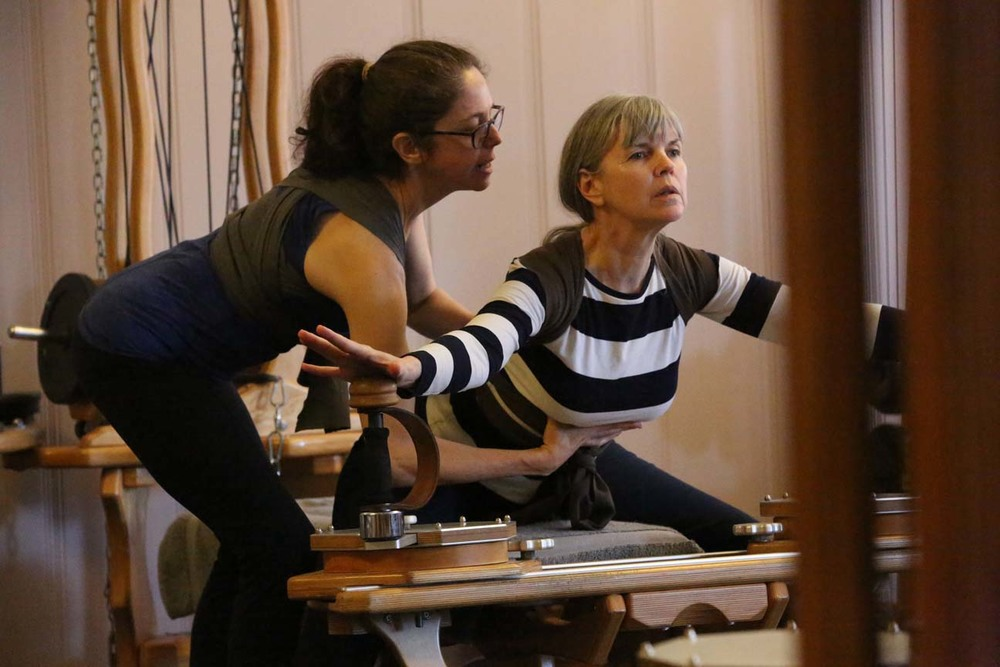 Debra cues Deborah during the Wrap course