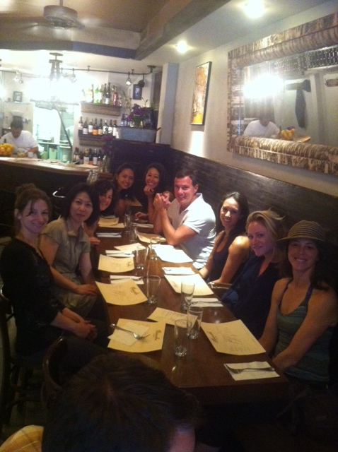 Fun dinner with Deb's GYROTONER® students from Billy's New York studio