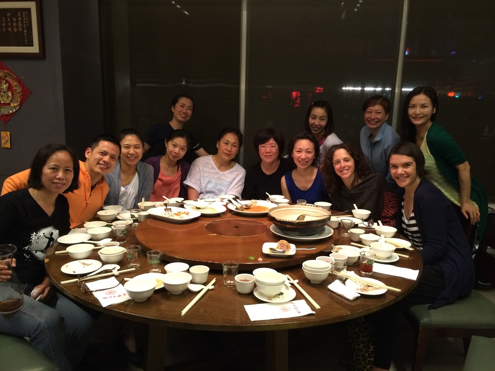 Dinner with Debra Rose's students in Taipei