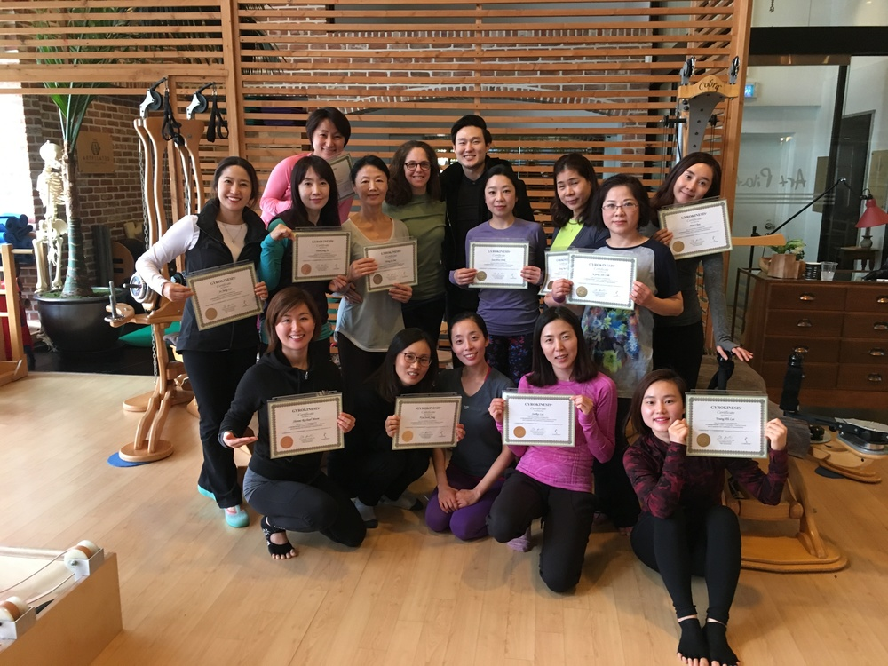 Wonderful group of new GYROKINESIS® Apprentices in Seoul