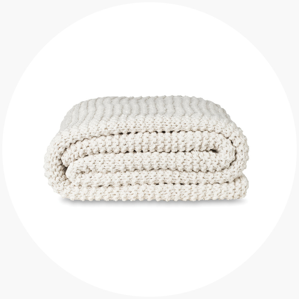 Purl Stitch Cotton Throw $139.00