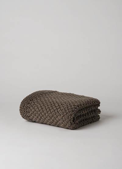 Moss Stitch Wool Throw  Scoria  |   $229