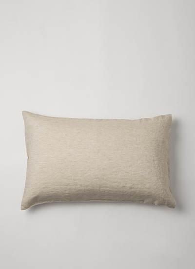 Chambray Linen Pillowcase  Oatmeal  | $79.90