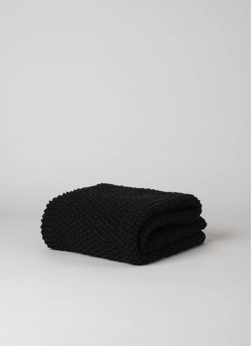 Moss Stitch Wool Throw  $229