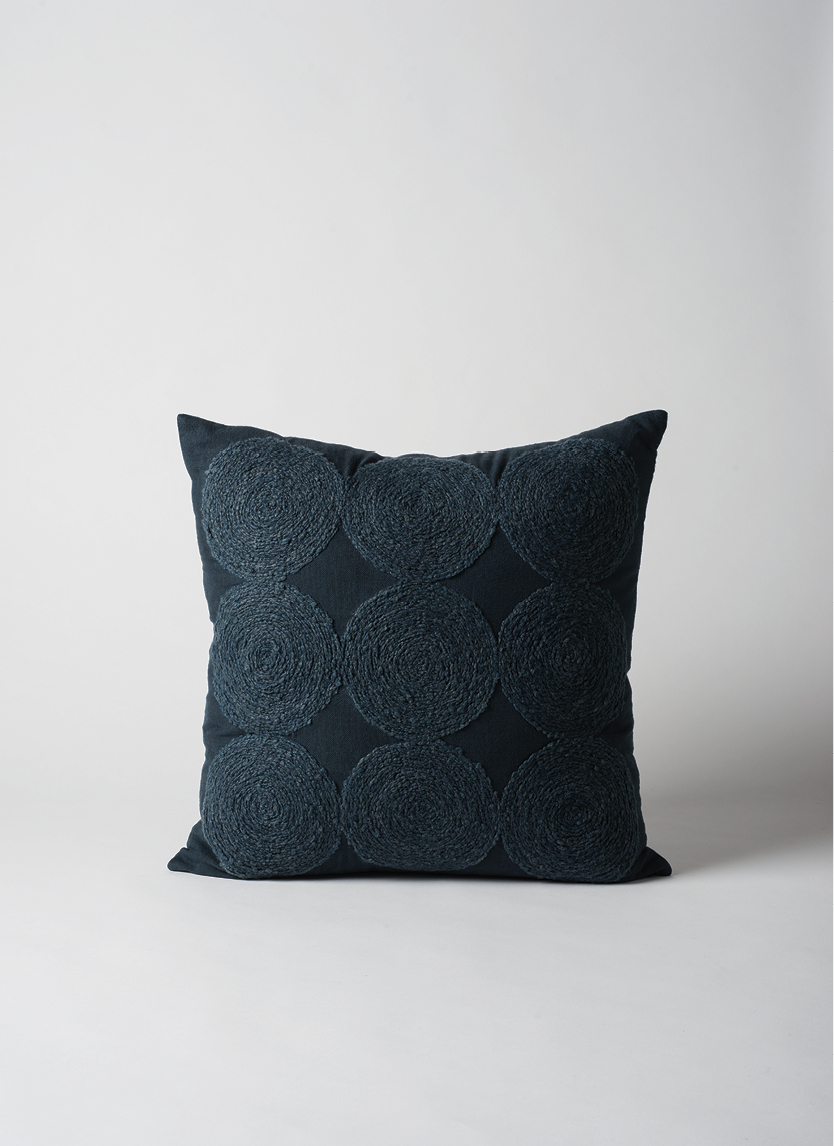 Luna Wool Embroidered Cushion     $64.90