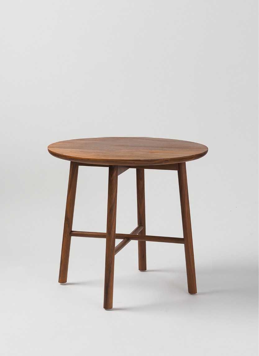 Radial Round Side Table - Walnut  $590