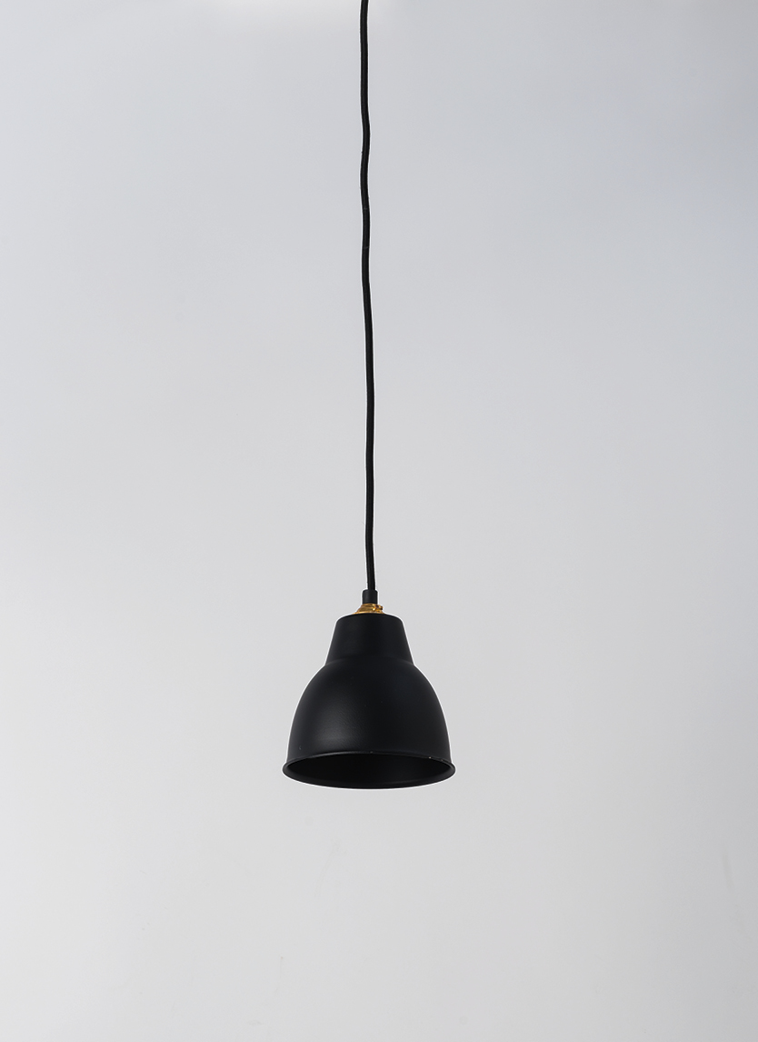 Black Courbe Pendant Light $79.90