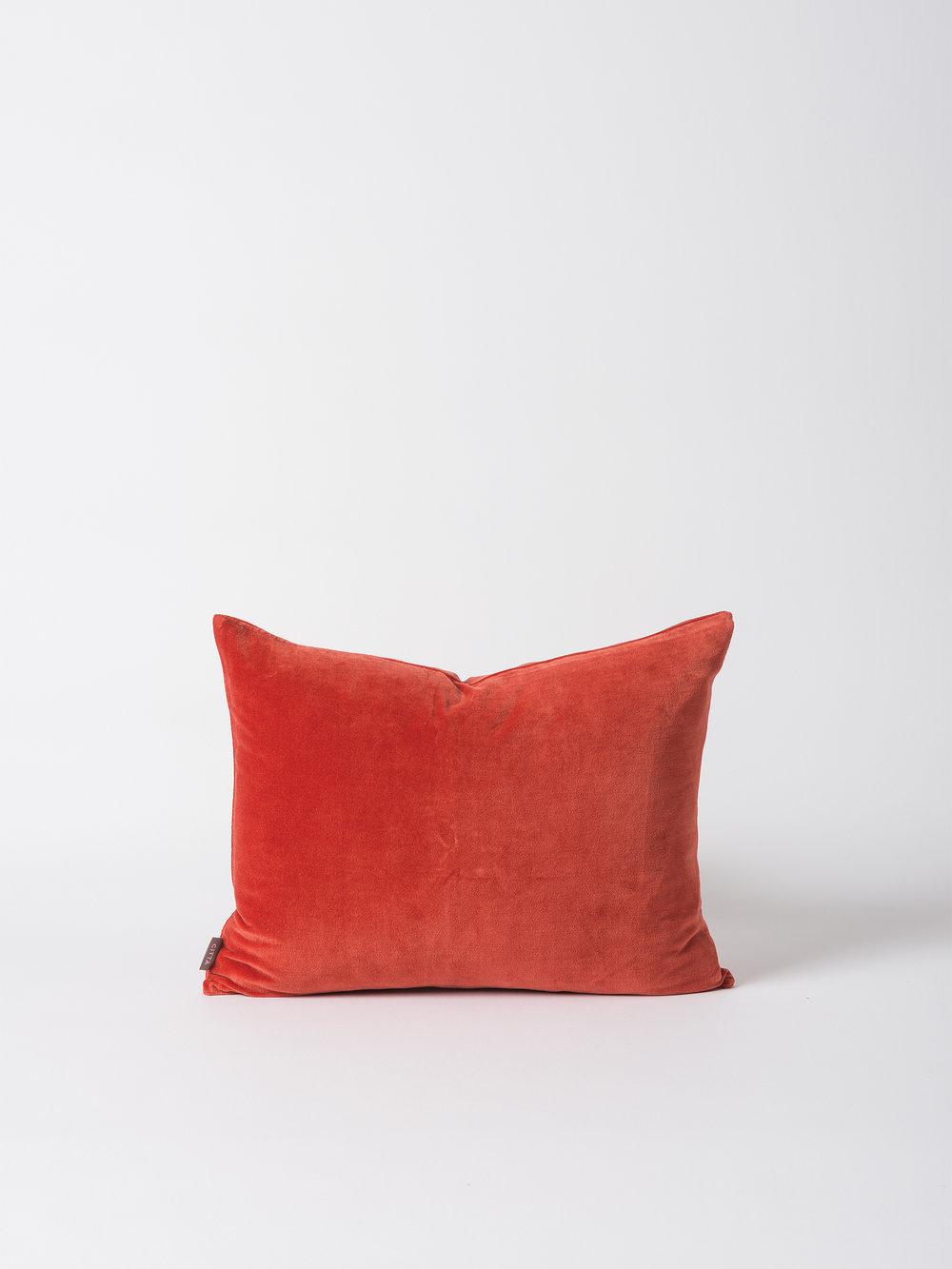 Cotton Velvet Cushion Cover - Carmine From $39.90