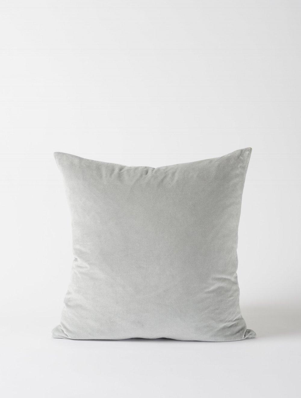 Cotton Velvet Cushion Cover - Dove $44.90
