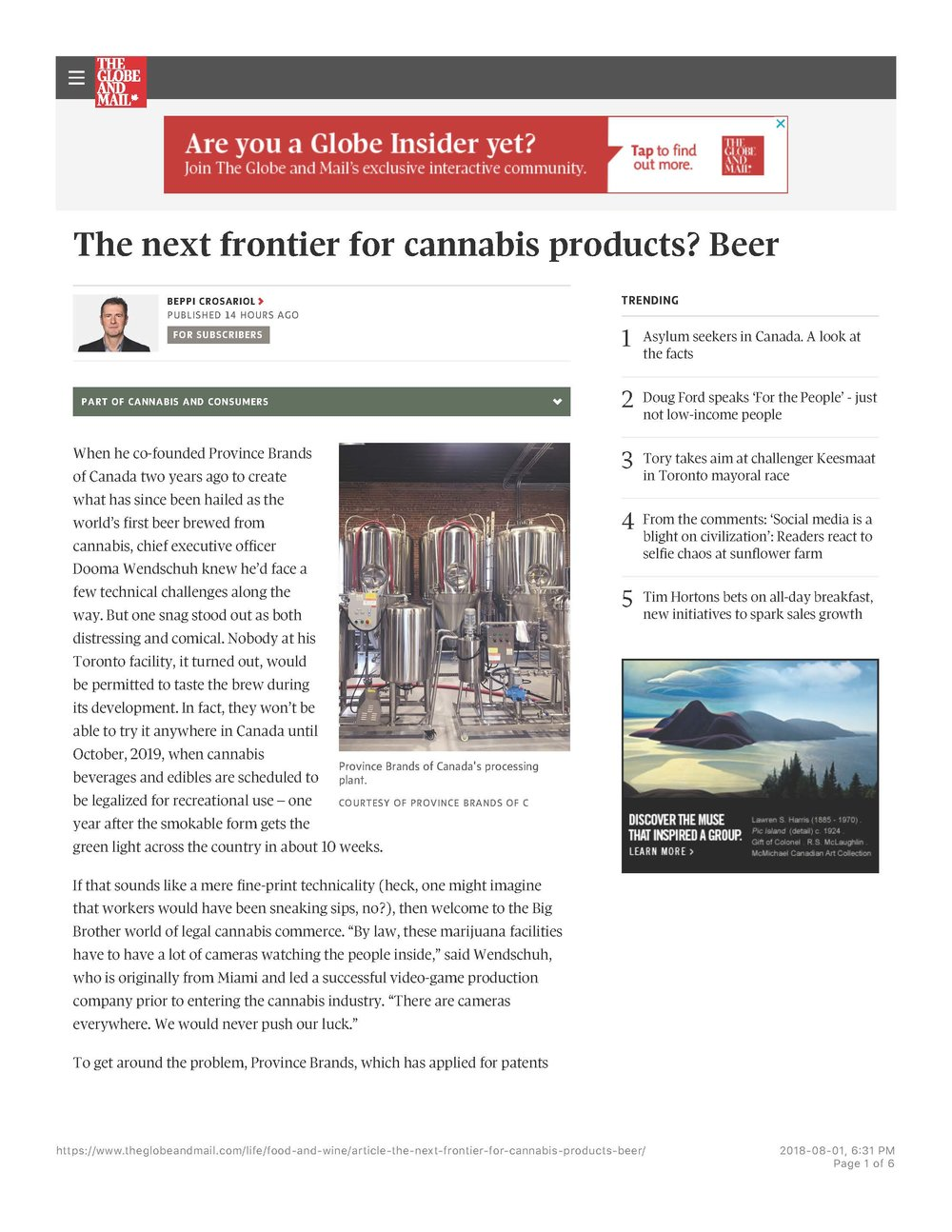 G&MThe next frontier for cannabis products Beer - The Globe and Mail_Page_1.jpg