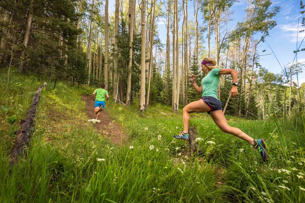 Ultra Santa Fe trail running on the Big Tesuque Trail, Santa Fe, New Mexico