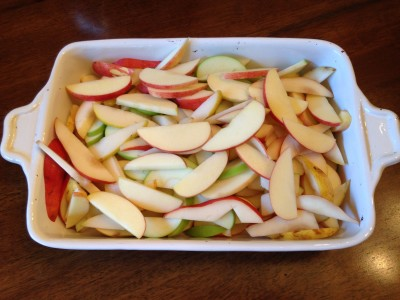 Apples in pan 2
