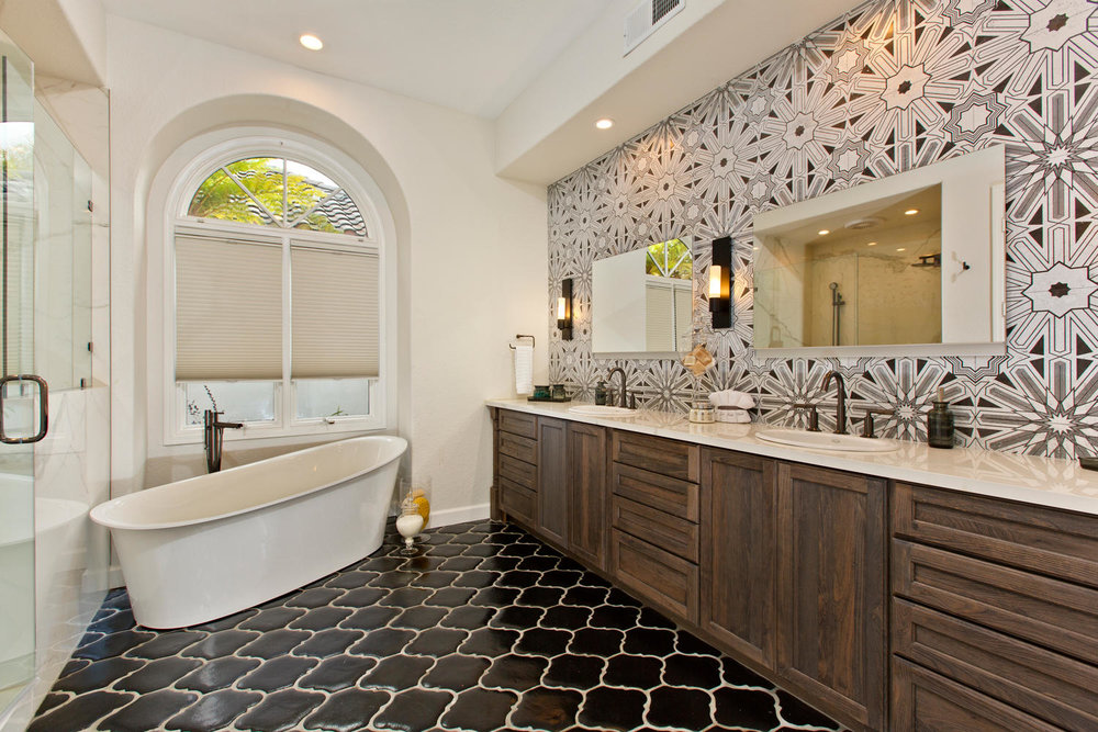 houzz room of the day  art deco tile dazzles in a master bathroom   signature designs kitchen bath houzz room of the day  art deco tile dazzles in a master bathroom      rh   signaturedesignskitchenbath com