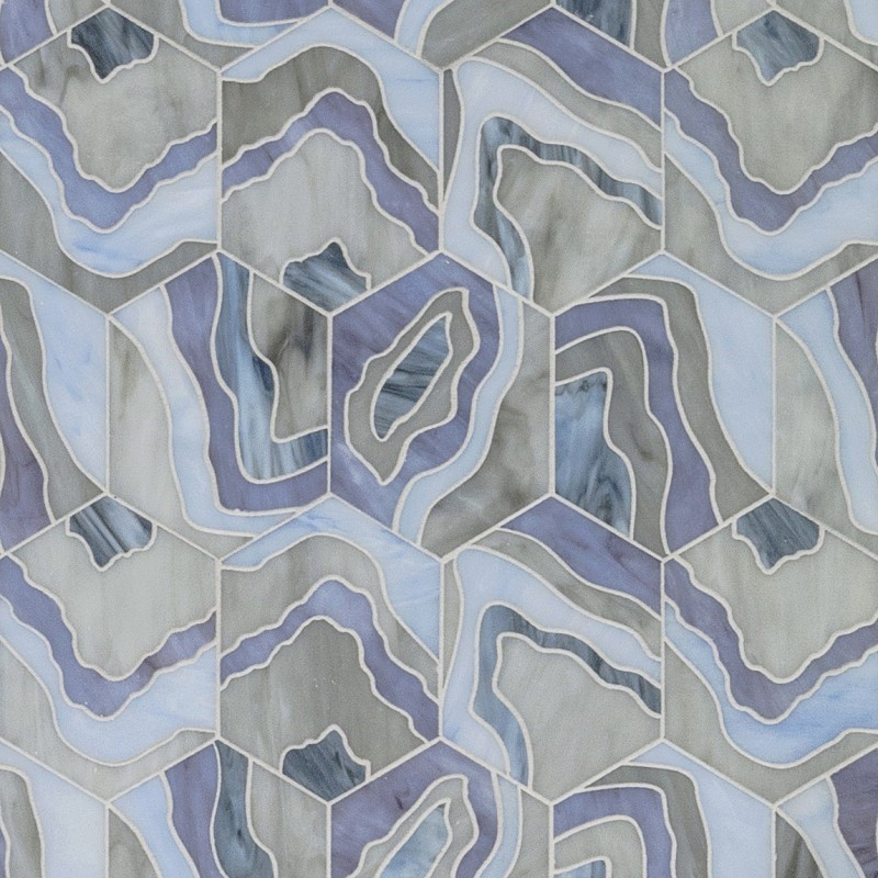 Artistic Tile's Lauren Harper Agate Lilac tile       CITATION Art182 \l 1033    (Artistic Tile)