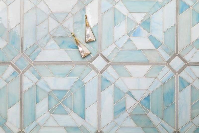 Artistic Tile's Lauren Harper Asscher Watercolor Blue tile       CITATION Art182 \l 1033    (Artistic Tile)