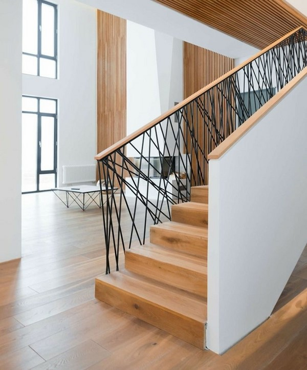 Modern wood and metal railing        CITATION DEA18 \l 1033    (DEA VITA)