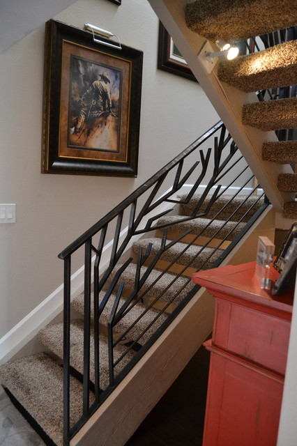 Organic Stair Railing tropical-staircase - Grizzy Iron Inc