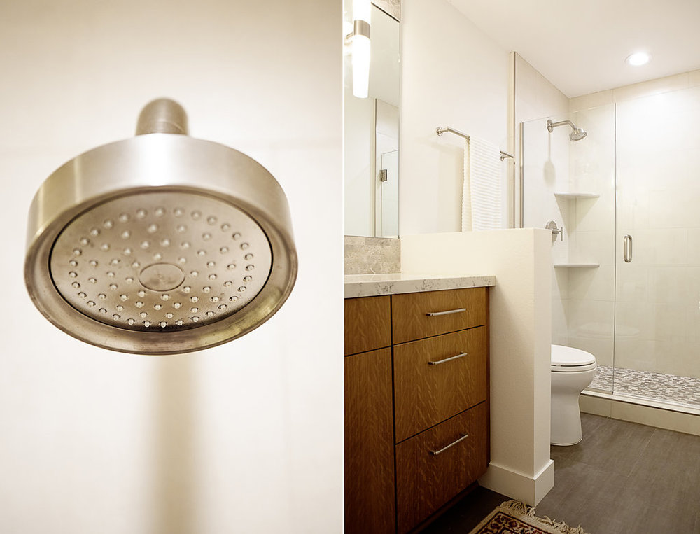 After Bathroom Design Open with a Neutral Design.