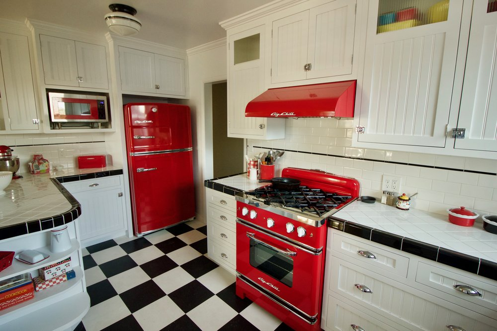 Custom painted inset kitchen