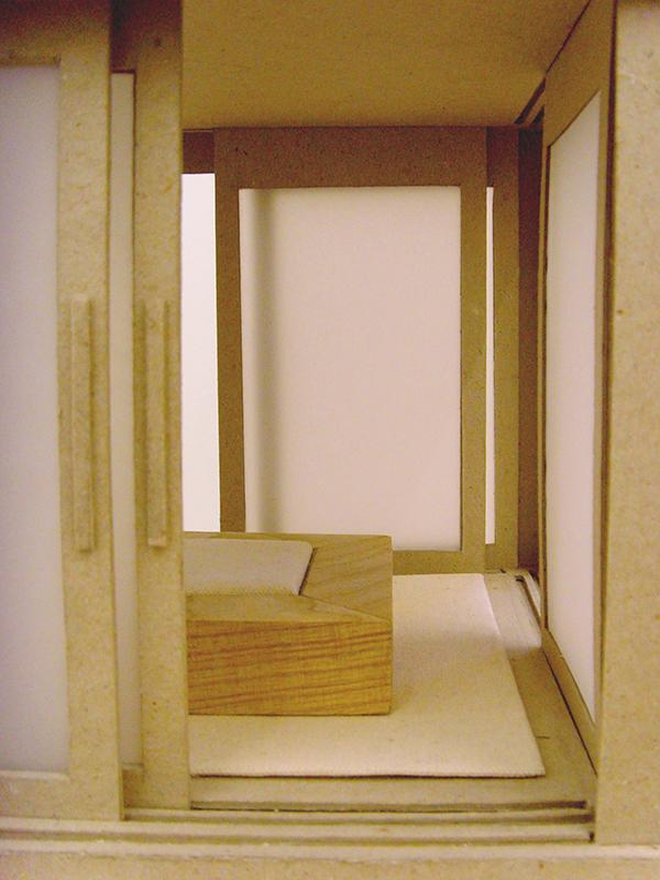 Silent Tea House   paper, card and wood  30cm x 30cm x 25cm 2007