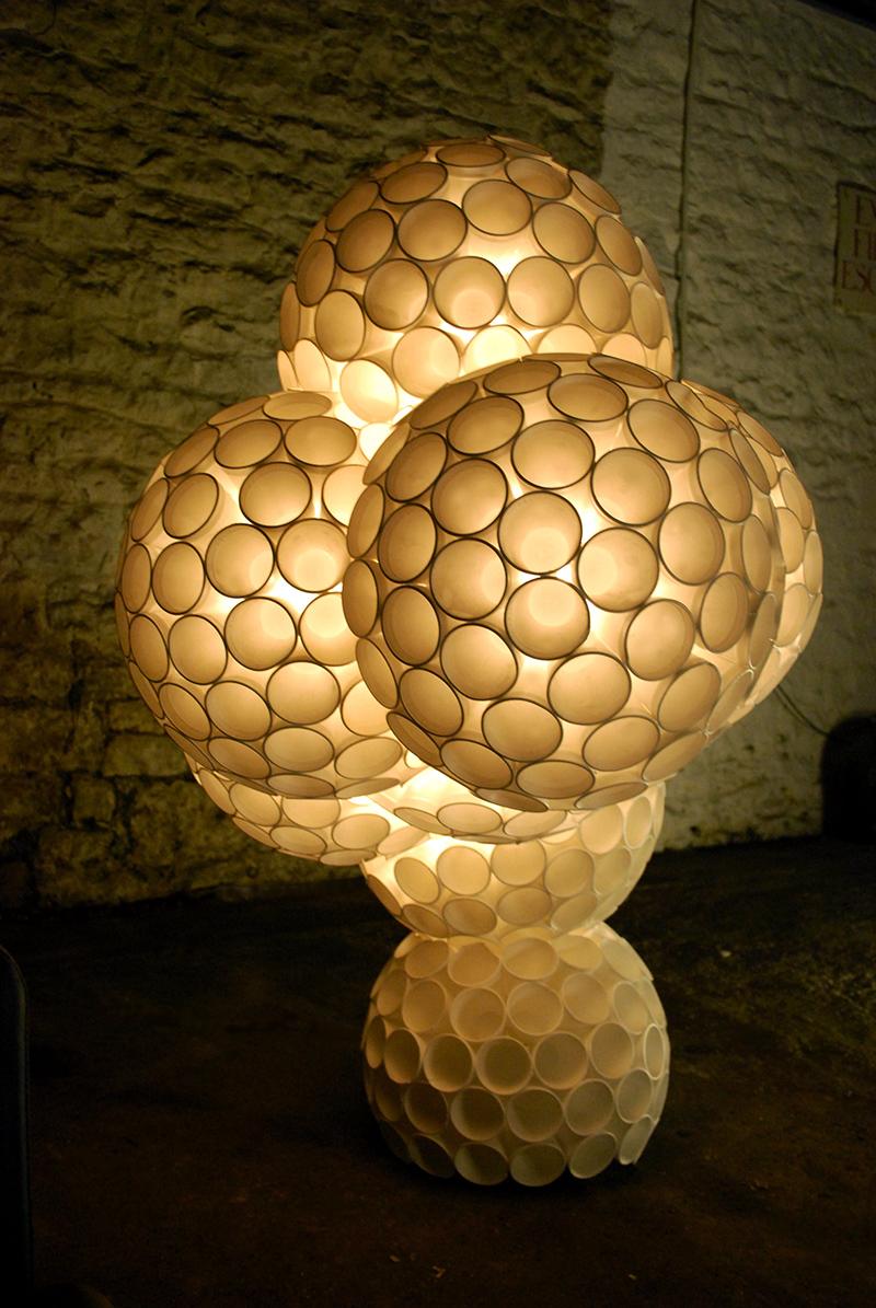 Atom   styrofoam cups, hot glue  168cm x 106cm x 82cm 2006