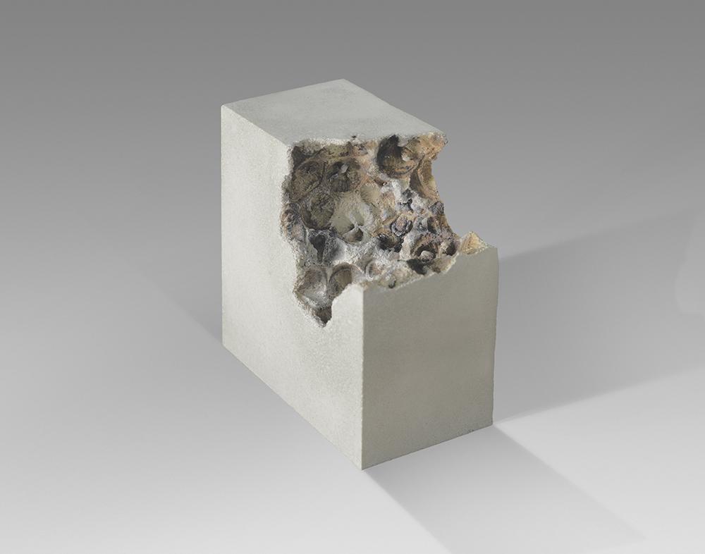 Divisions of void iii- 13cm x 13cm x 6.5cm - concrete