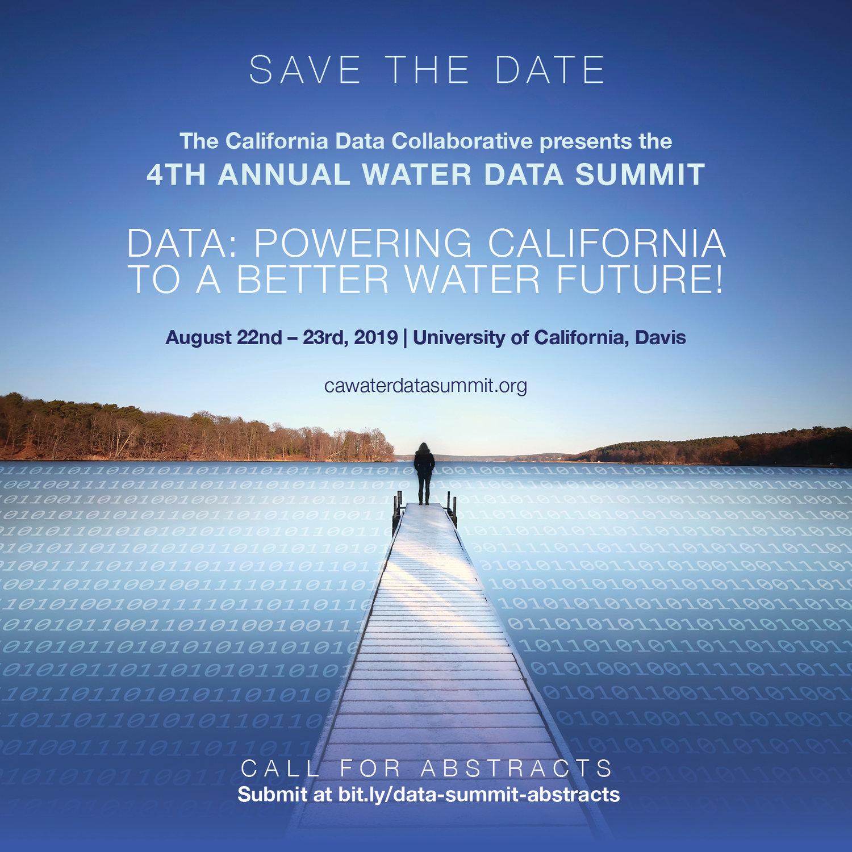 Uc Davis Academic Calendar 2019.Fourth Annual Water Data Summit At Uc Davis California Data