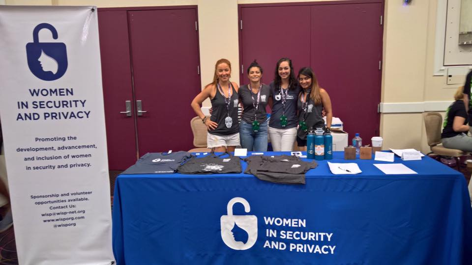 WISP Co-Founders and Board Members Wo(man) the Vendor Booth : Elena Elkina, Kenesa Ahmad, Alya Gennaro, & Fatima Khan.
