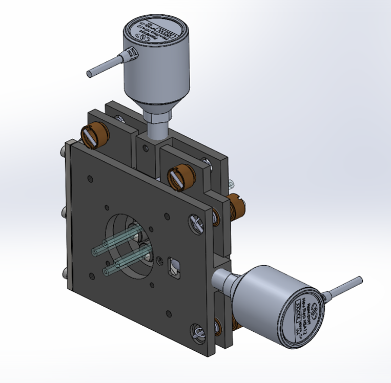 Multiple Sigray x-ray optics can be mounted in a turret to allow optimized performance for multiple applications within the same system.