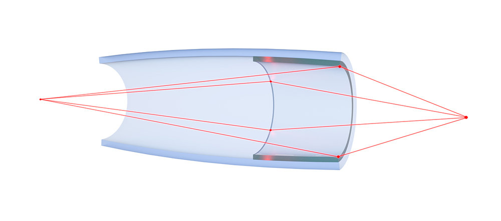 Ellipsoidal monocapillary x-ray optic: Single-bounce x-ray optic