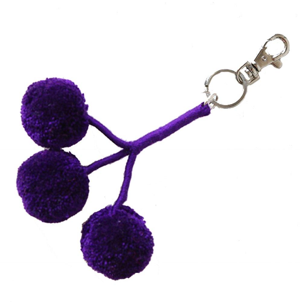 Pom Key Fob Purple — FOSTERIE 4bc6d23d6e13