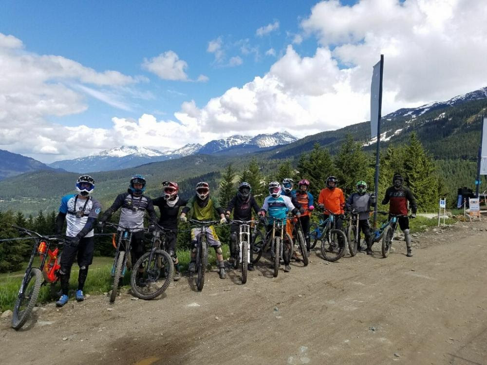 All 11 of us at the top of Whistler Mountain
