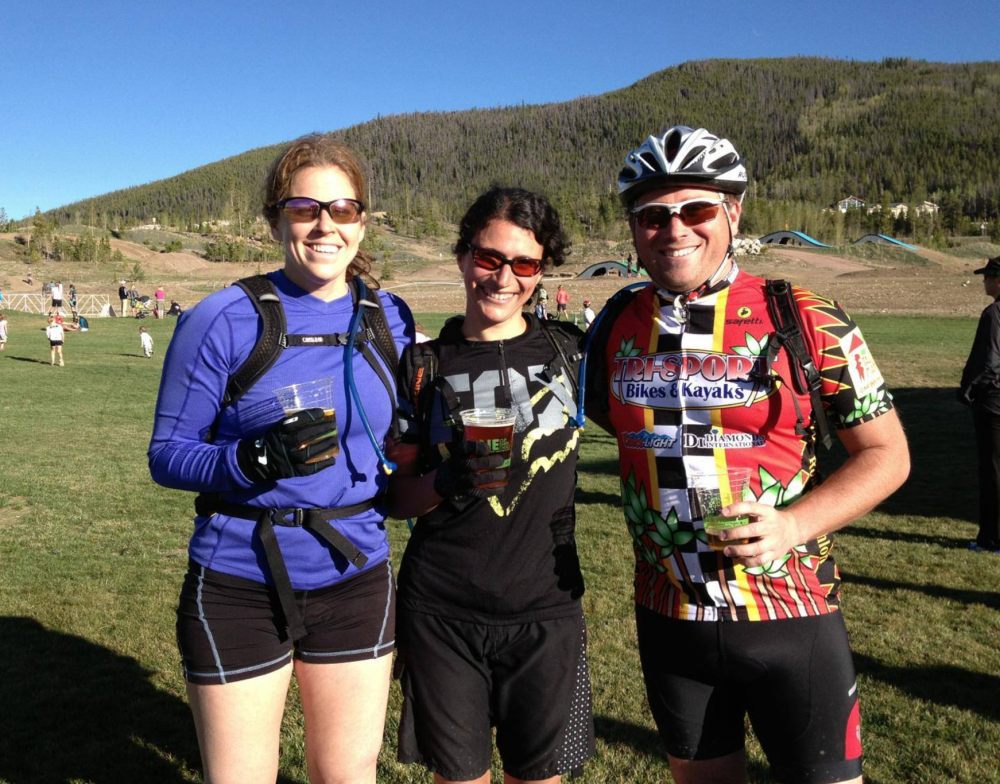 Happy after surviving the first mountain bike race in 2013!