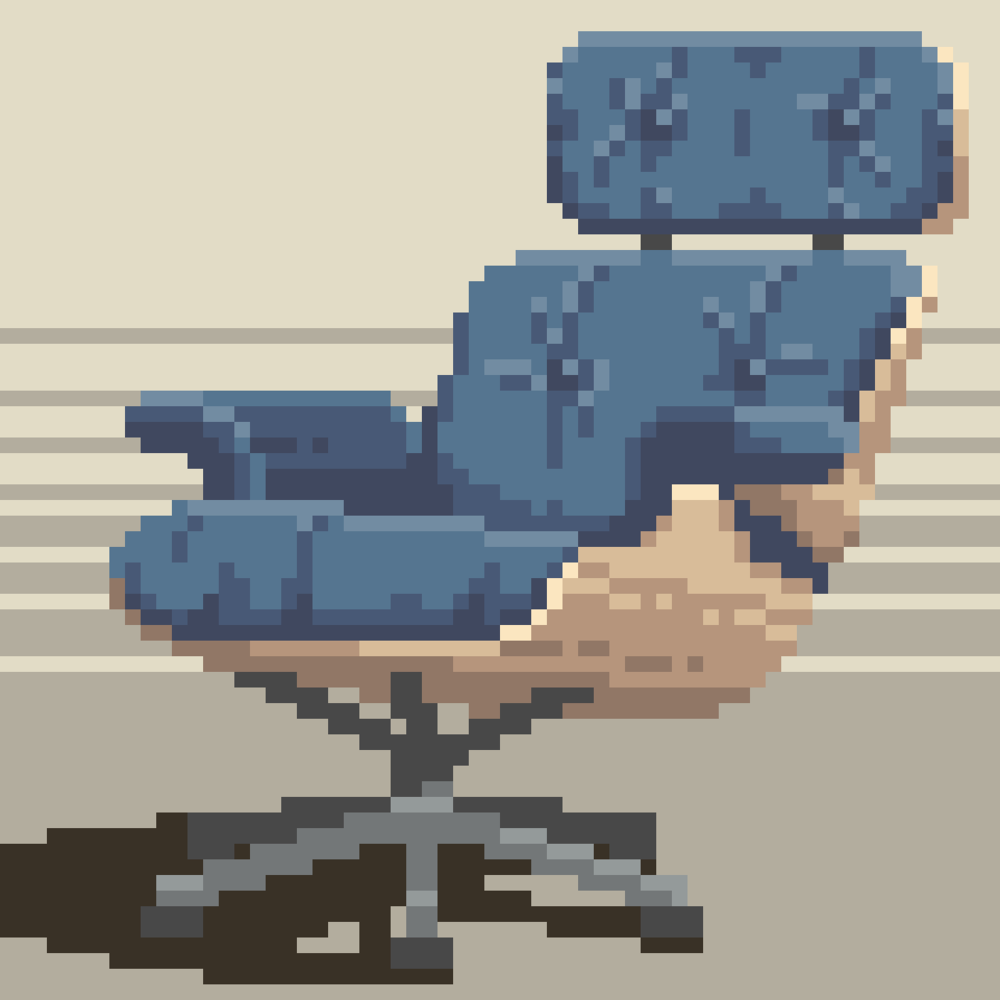 Eames Chair (Dotpict, 16 colors)