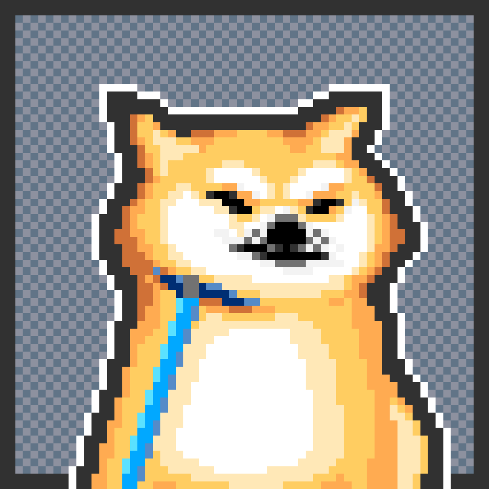 Stubborn Shiba (Dotpict, 16 colors)