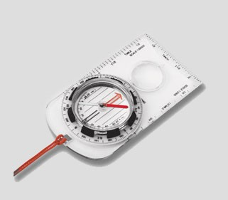 Typical orienteering compass.