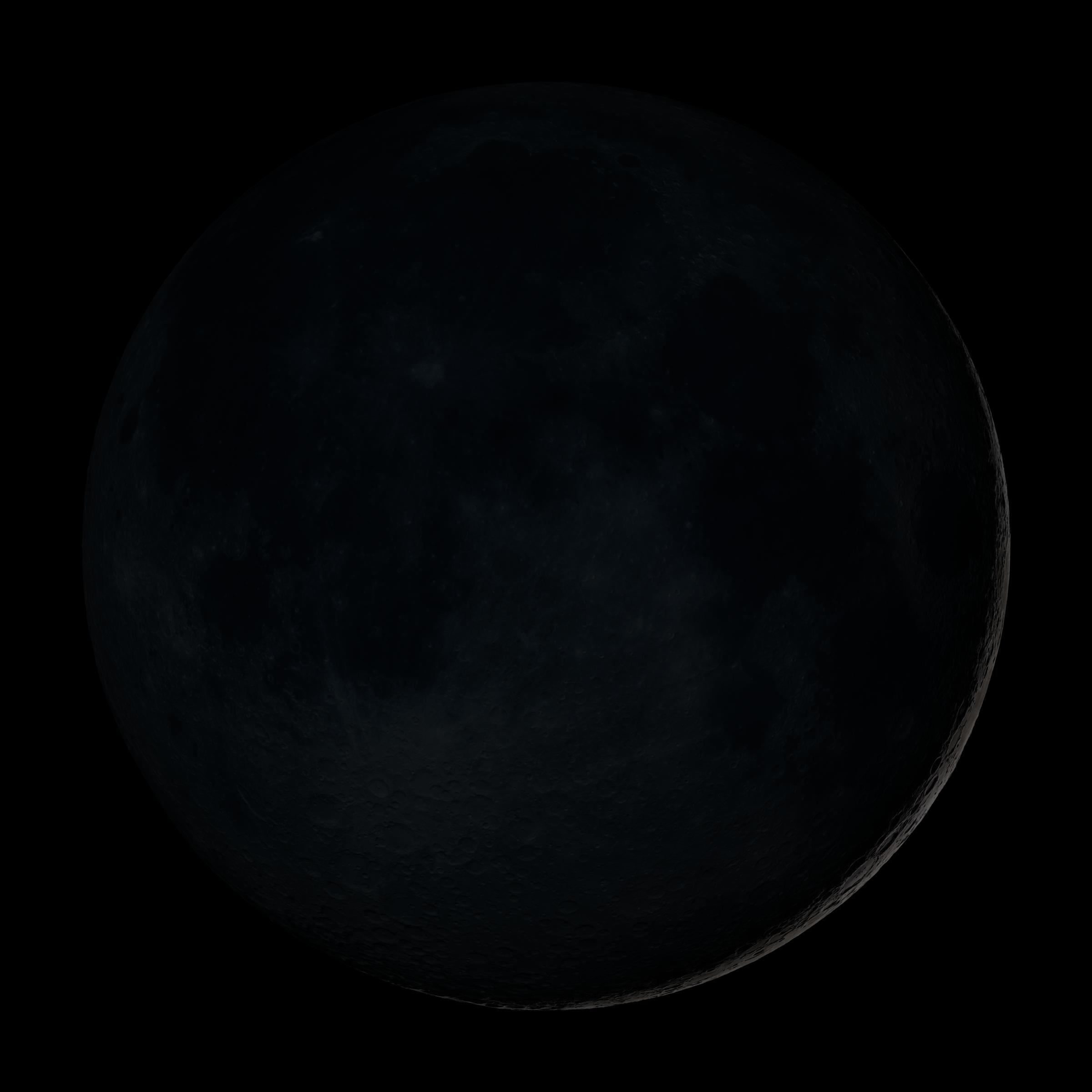 The dark moon, a sliver of outline visible, holding space for growth