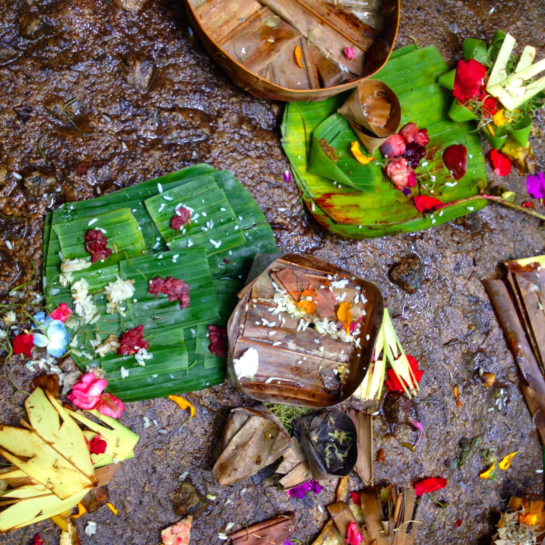 Ceremonial offerings in Bali