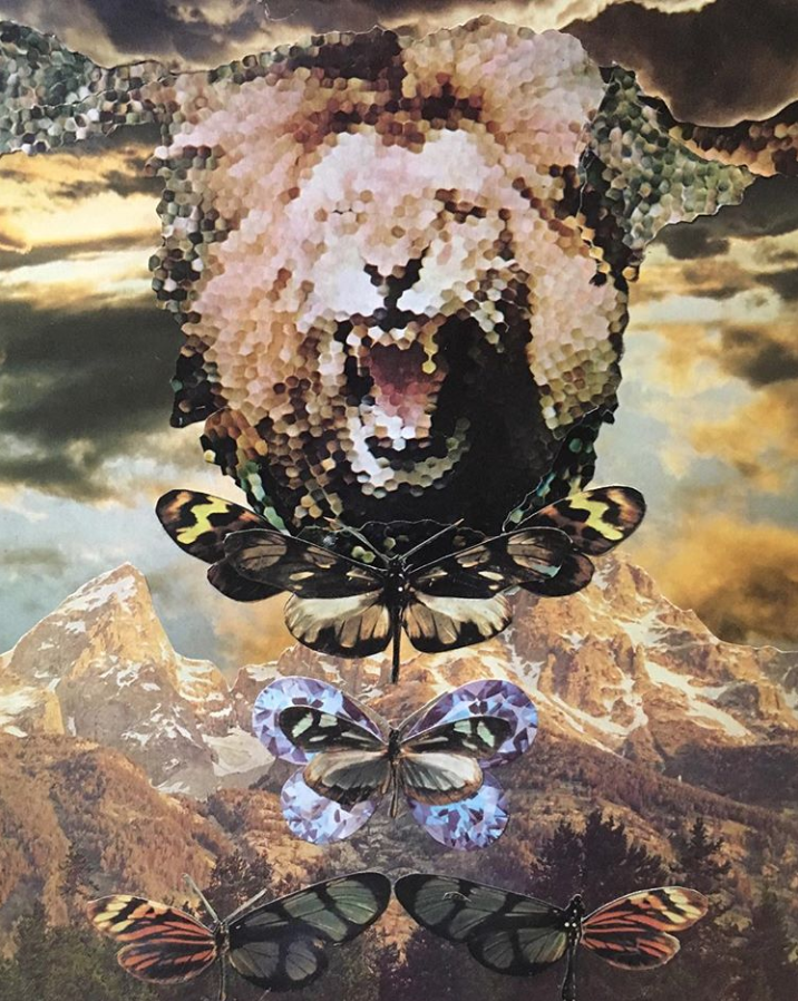 Another piece by  Janna  - notice how the lion's face is pixelated and made of so many combined elements. This image shows so beautifully the power of the individual who carries the momentum of the collective.