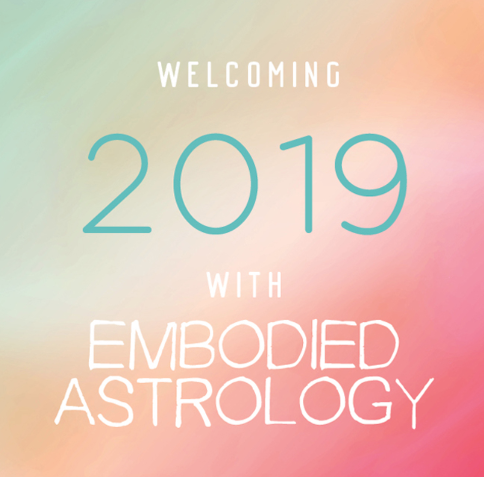 Join me for an experiential and experimental journey into the near future where I'll provide you with clear, fun and accessible means for understanding the esoteric and symbolic language of astrology. This class will give you a basic map for the next 12 months of upcoming opportunity periods, potential challenges and best practices to help you take advantage of this year's astrological weather.  In the course packet you'll receive a thorough handout that includes tools for reading and applying the current astrology to any natal chart. Included in the course packet are legends for planetary transits through the signs, rubrics for understanding how each planet will affect an individual's chart based on their rising sign, calendars for the retrograde cycles and eclipses, plus a 2019 lunar cycle yearly calendar.  The audio/video presentation includes:  How to read planets, signs and houses, and apply the presented astrology to your own natal chart.  Important dates, periods of challenge and opportunity  General and specific themes for 2019's exciting astrology  How the planets and signs work through your body, environments and relationships – and how to work with these energies and events through embodied awareness, breath, creativity and intention.  Q&A  Beginners and more experienced astrologers alike will enjoy this unique approach to astrology that blends meditative and somatic practices with personal, political and spiritual reflection. No previous knowledge or experience with astrology is required.